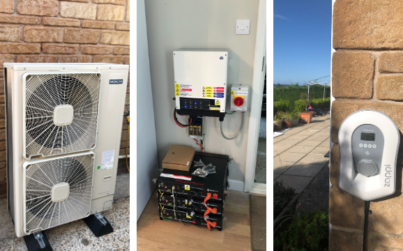 Air Source Heat Pump, EV charger installed by Pure Green Energy